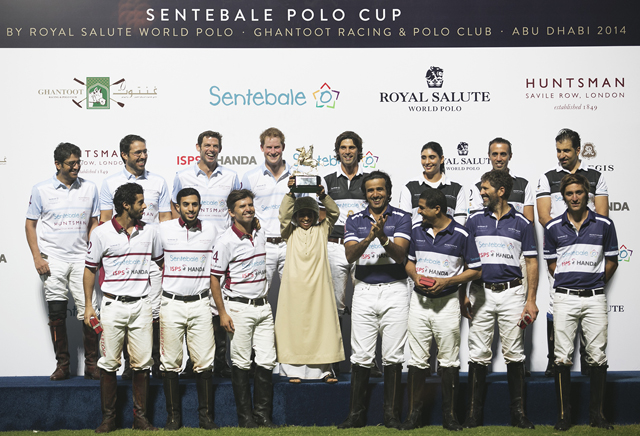 Prince Harry plays in the fifth Sentebale Polo Cup in Abu Dhabi