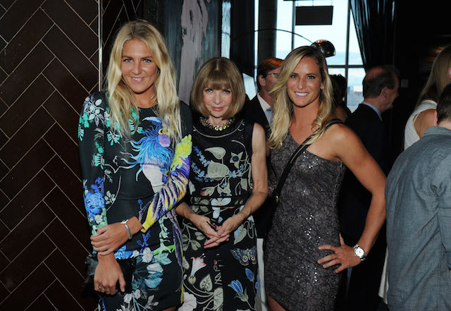 Anna Wintour and Katie Holmes attend the The World Surf League party