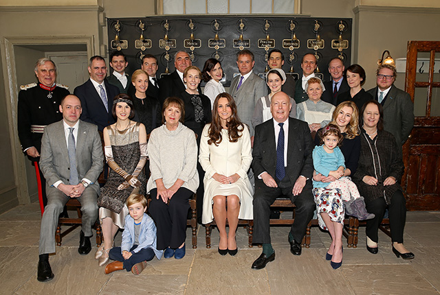The Duchess of Cambridge visits the set of Downton Abbey