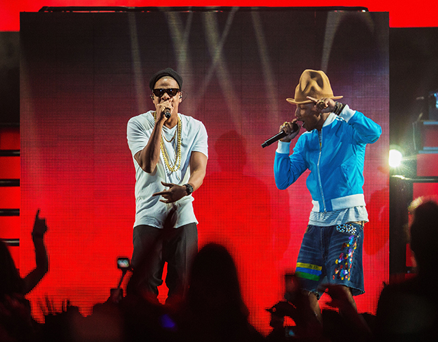 Watch now: Pharrell performs with Jay Z at Coachella