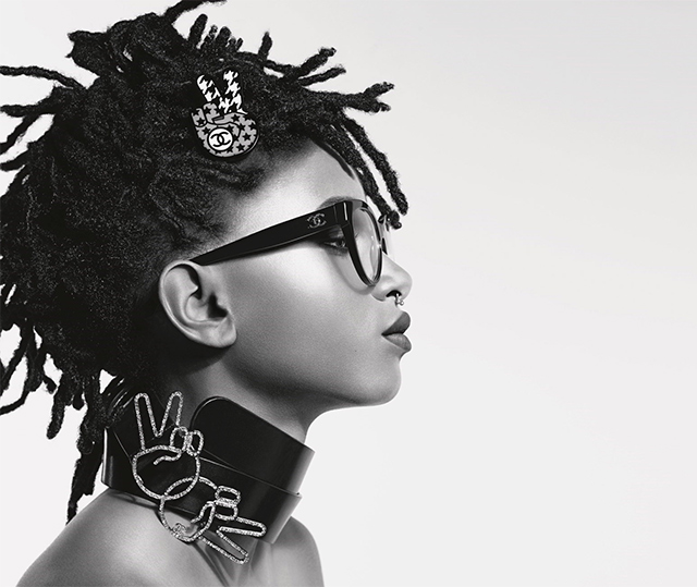 Chanel presents the entire eyewear collection with Willow Smith
