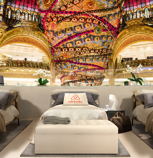Airbnb offers nights stay at the iconic Galeries Lafayette
