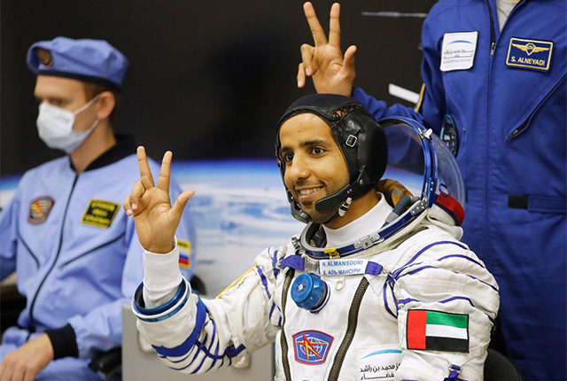 The UAE just sent its first Emirati to space today