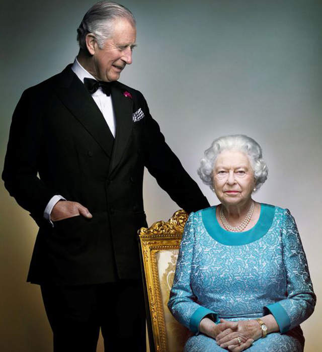 Queen Elizabeth Ii And Prince Charles In A New Portrait Shot By Nick