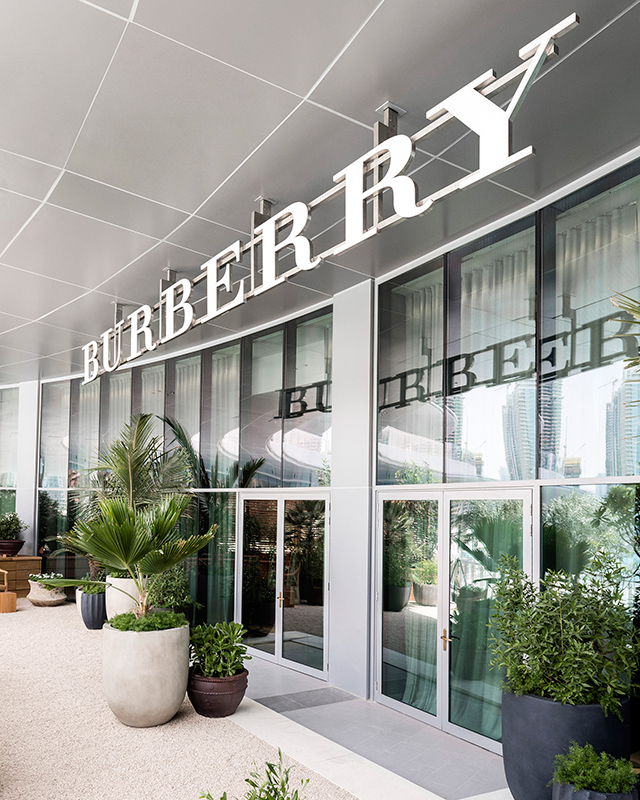 Burberry just opened its new store in The Dubai Mall