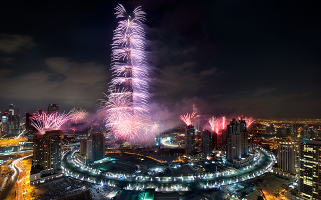 New Year's fireworks continue despite fire