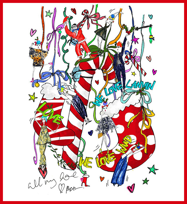 Alber Elbaz, Francisco Costa and more design Christmas cards for WWD