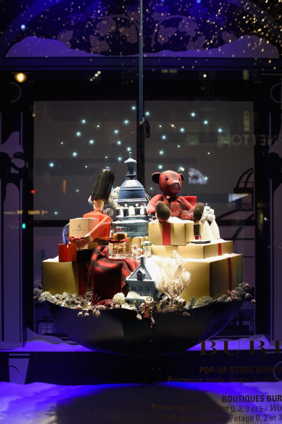Full look: Burberry's festive window display at Printemps