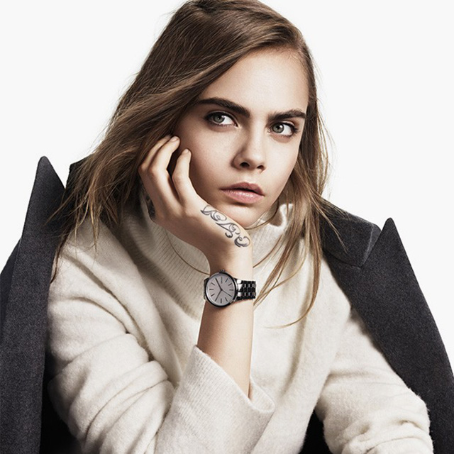 She's back: Cara Delevingne stars in the new DKNY campaign