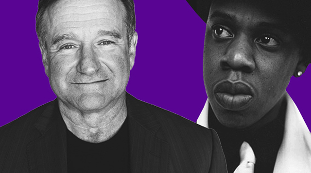 Robin Williams and Jay Z are among the most searched names online