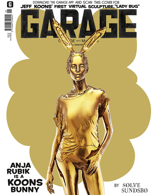 Anja Rubik and Binx Walton cover 'Garage' magazine as Koons bunnies