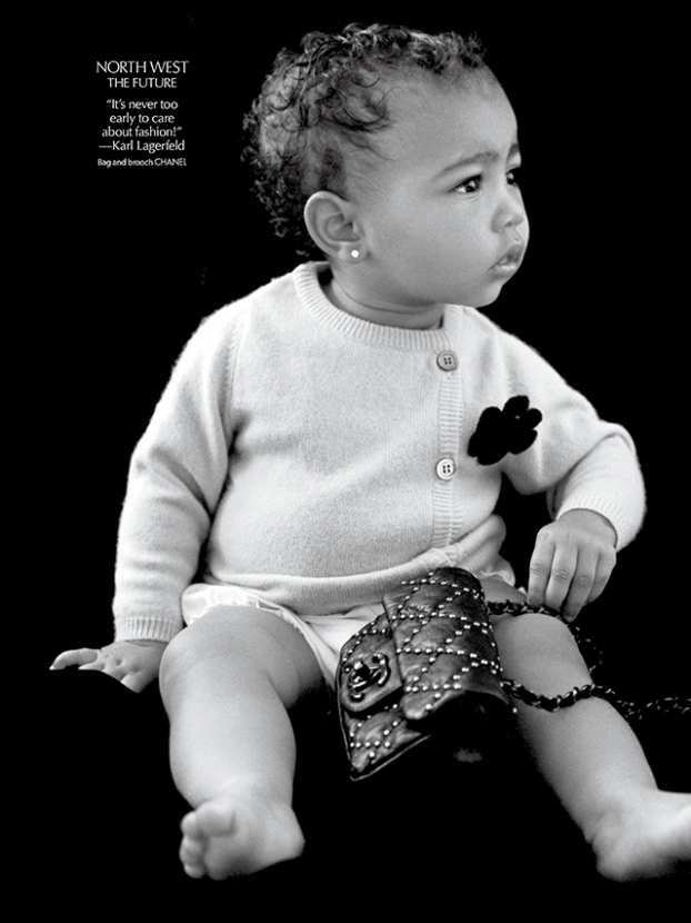North West makes modelling debut wearing Chanel
