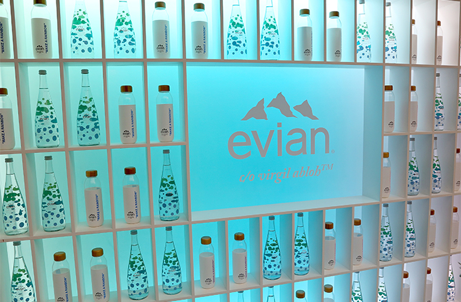 One Drop Can Make A Rainbow: You can now get your hands on evian X Virgil Abloh's limited edition bottle in the Middle East