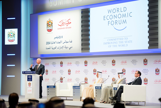 Watch now: Sheikh Mohammed attends the 2014 Global Agenda Summit