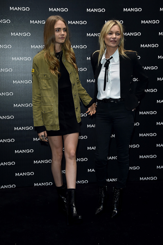 Milan Fashion Week: Cara Delevingne and Kate Moss celebrate Mango campaign