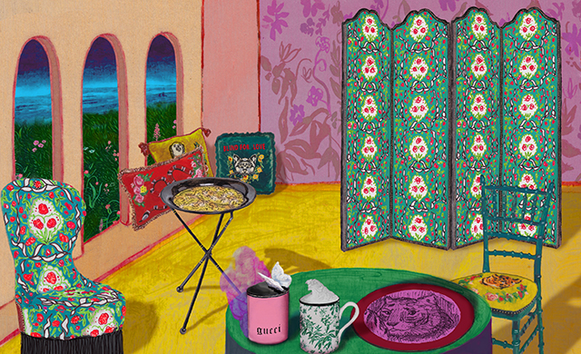 New in: Gucci to release furniture and decor collection