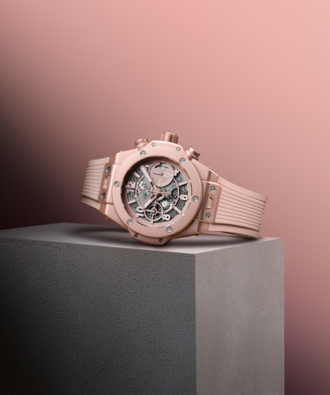 Hublot launches its Big Bang in millennial pink