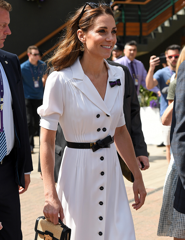 Kate Middleton turns to her favourite designer for a surprise appearance at Wimbledon