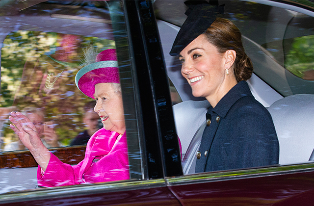 Surprise! Kate Middleton makes an appearance alongside the Queen at Balmoral