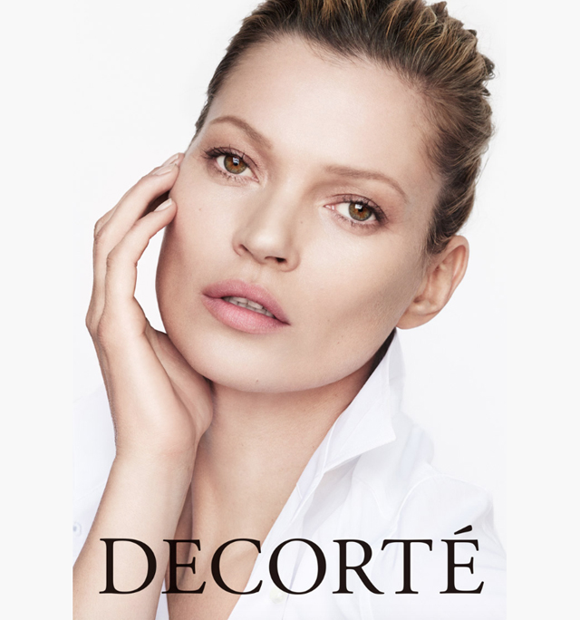 Iconic beauty: Kate Moss fronts Decorte campaign lensed by Mario Testino