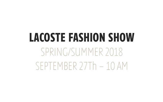 Live: Lacoste SS18 Paris Fashion Week