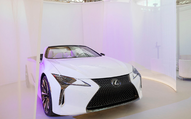 Design Miami's official automative partner Lexus debuts custom installation
