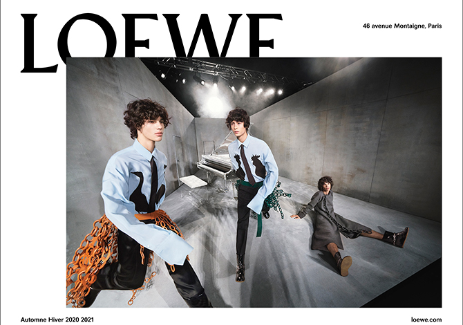 Watch the Loewe F/W '20 show live from Men's Paris Fashion Week