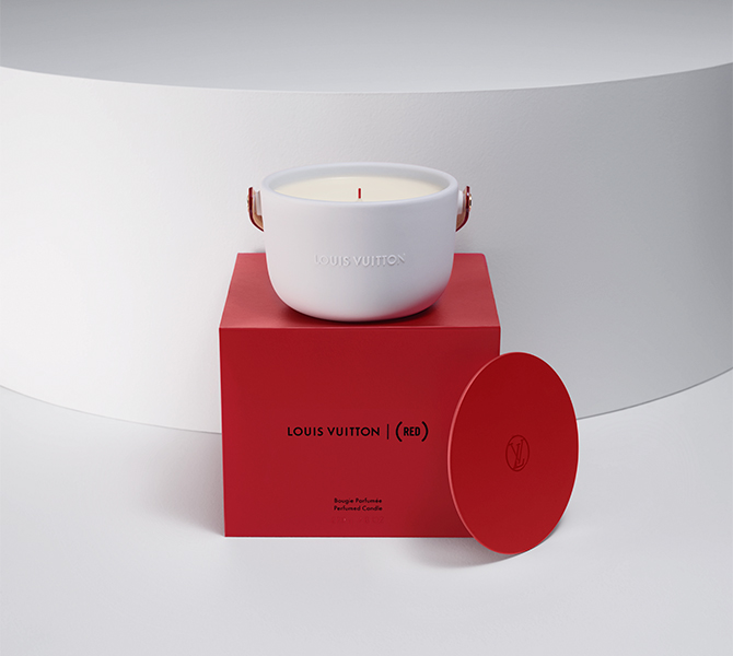 Louis Vuitton collaborates with (RED) on a new scented candle for charity