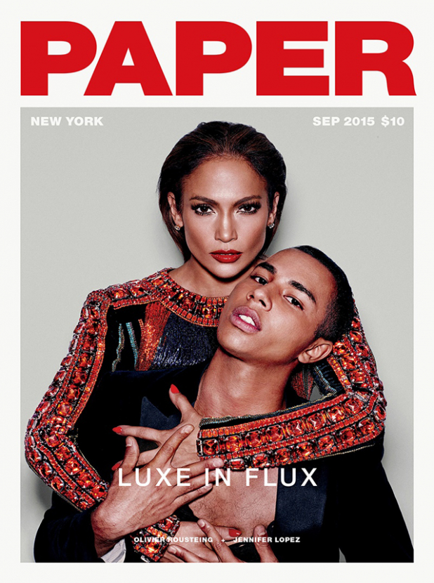 Jennifer Lopez and Olivier Rousteing talk music, luxury and fast-fashion in Paper Magazine