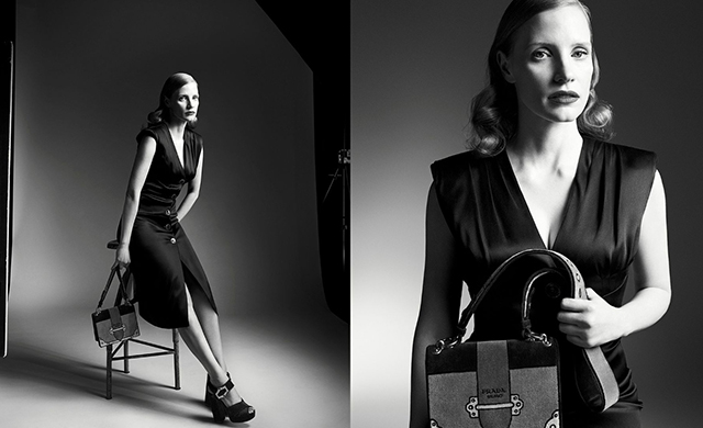 Prada Persona: Jessica Chastain fronts new Fall/Winter '17 campaign
