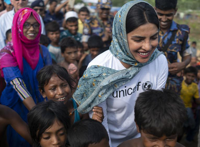 Priyanka Chopra will be awarded a humanitarian award by UNICEF this year