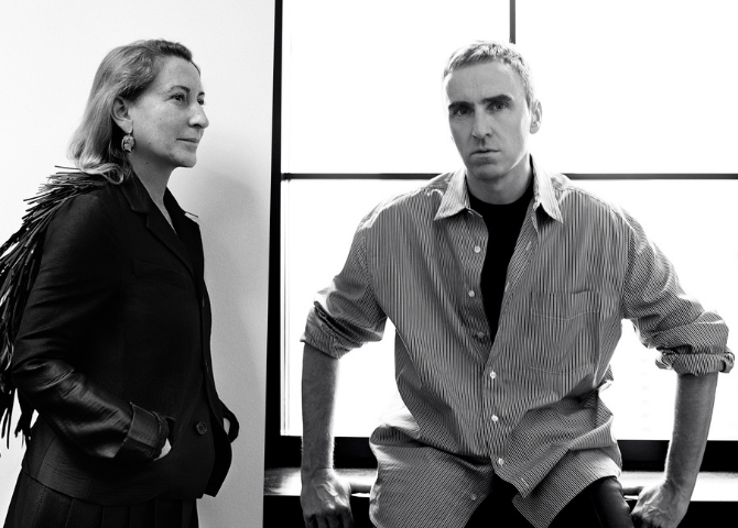 Got questions? Miuccia Prada and Raf Simons are ready to answer them