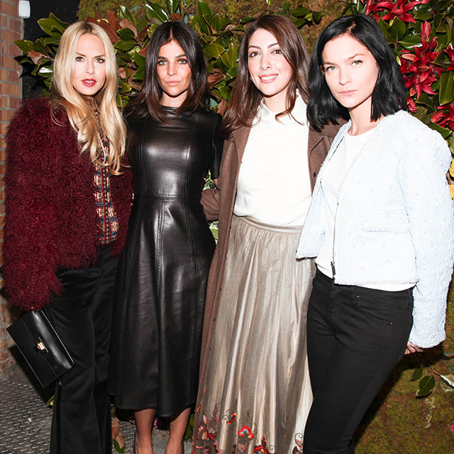 Julia Restoin Roitfeld and Rachel Zoe toast Fatema Fardan's AW15 presentation in New York