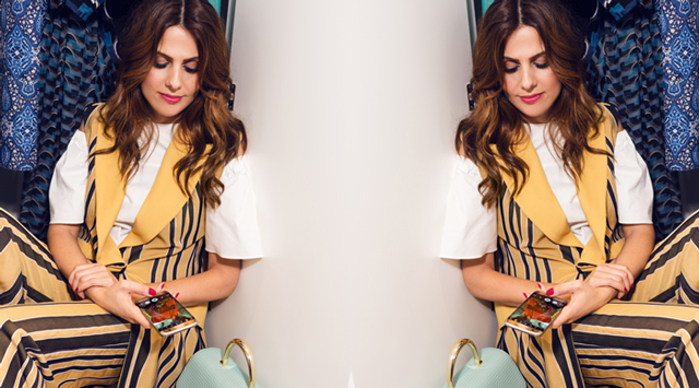 Dubai Street Style's Lama Jamal: On set with Samsung