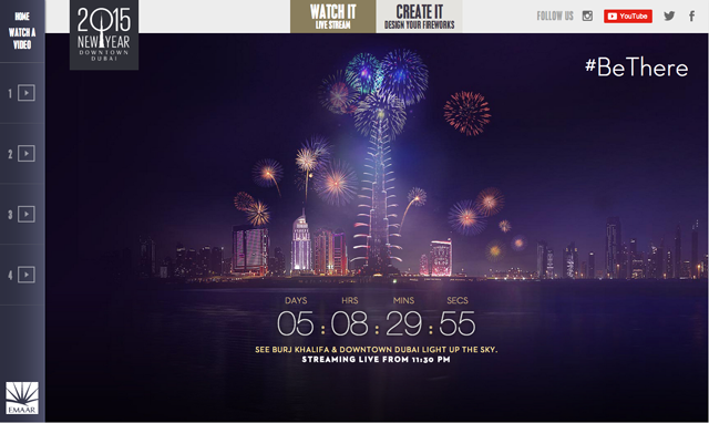 Dubai to live stream New Year's Eve fireworks on YouTube