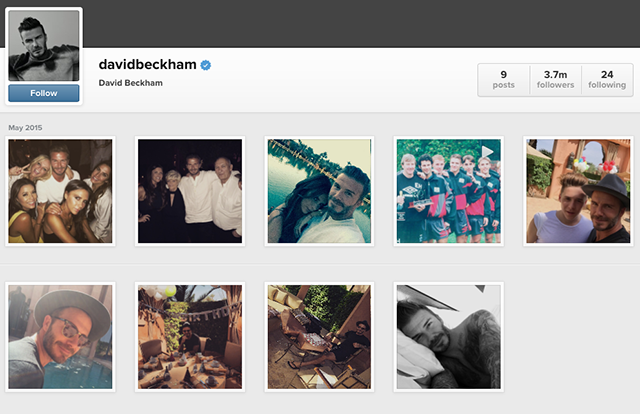 David Beckham joins Instagram and gains 3.7 million followers in 24 hours