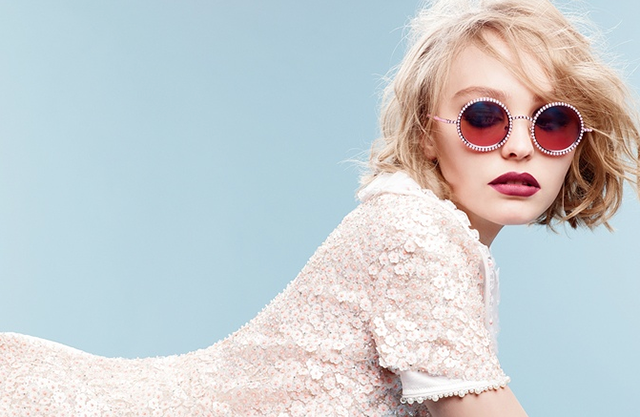 Lily-Rose Depp stars as the face of Chanel's AW15 eyewear campaign