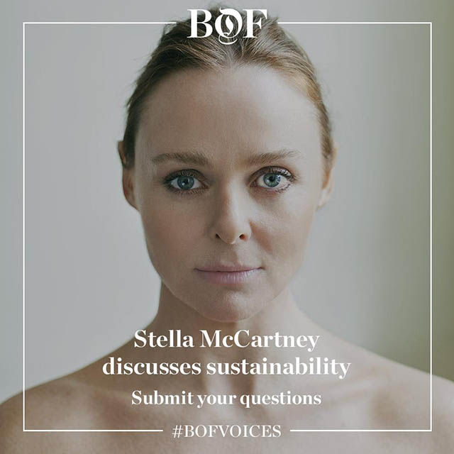 Sustainability in focus: Stella McCartney in conversation for the launch of #BoFVOICES