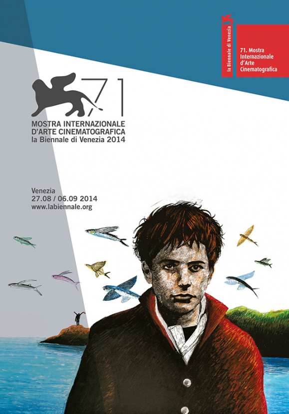 The official poster for the 71st Venice International Film Festival