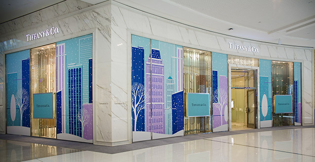 Tiffany & Co reveals its famous festive windows in Dubai for 2014