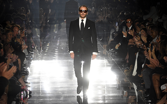 Tom Ford proved his star power at his Fall/Winter '20 show in Los Angeles