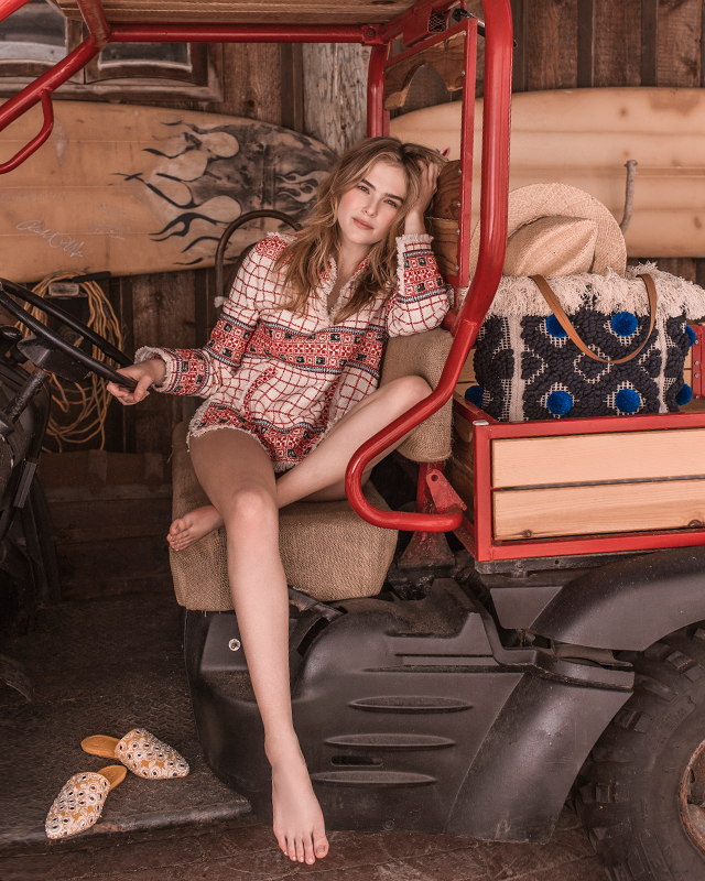 Discover Tory Burch's new collection with Zoey Deutch