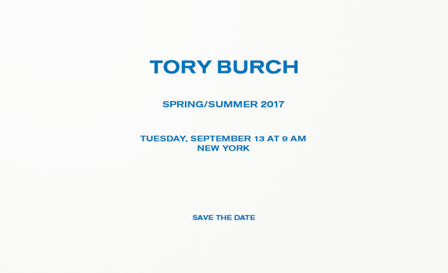 Live streaming: Tory Burch Spring/Summer '17 New York Fashion Week