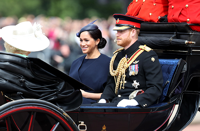 Meghan Markle makes post-baby appearance at Trooping The Colour 2019