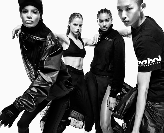 Here's your first look at the Reebok x Victoria Beckham collection
