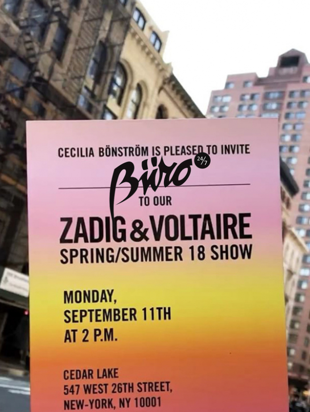 Live: Zadig & Voltaire SS18 New York Fashion Week