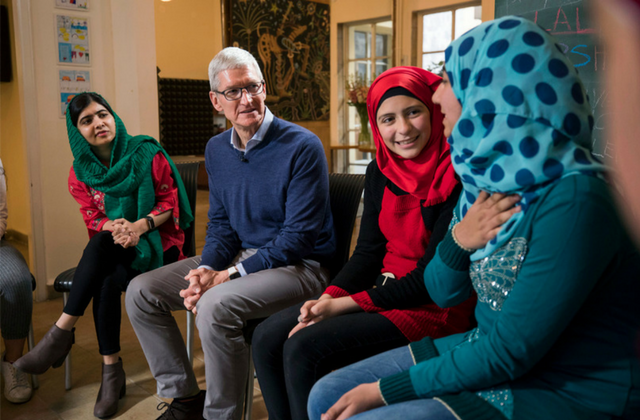 Malala Yousafzai and Apple team up for girls' education