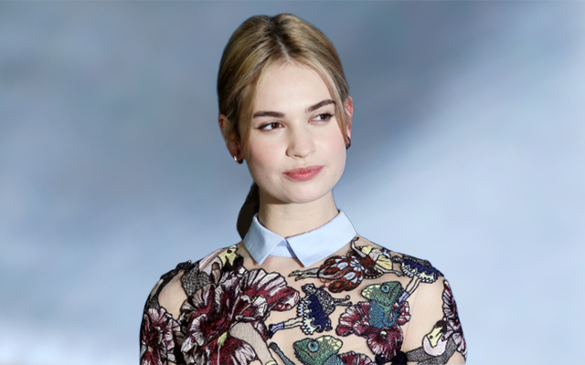 Burberry names Lily James as new fragrance ambassador