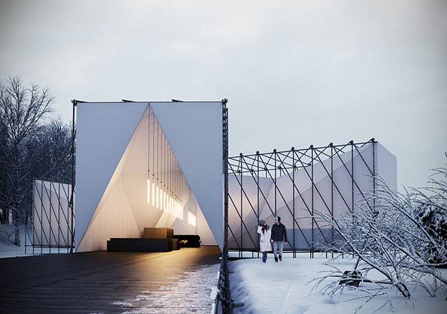 British design firm builds on-ice restaurant in Canada