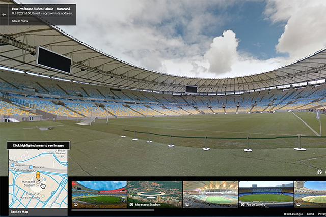 Google Street View highlights Brazil for the World Cup